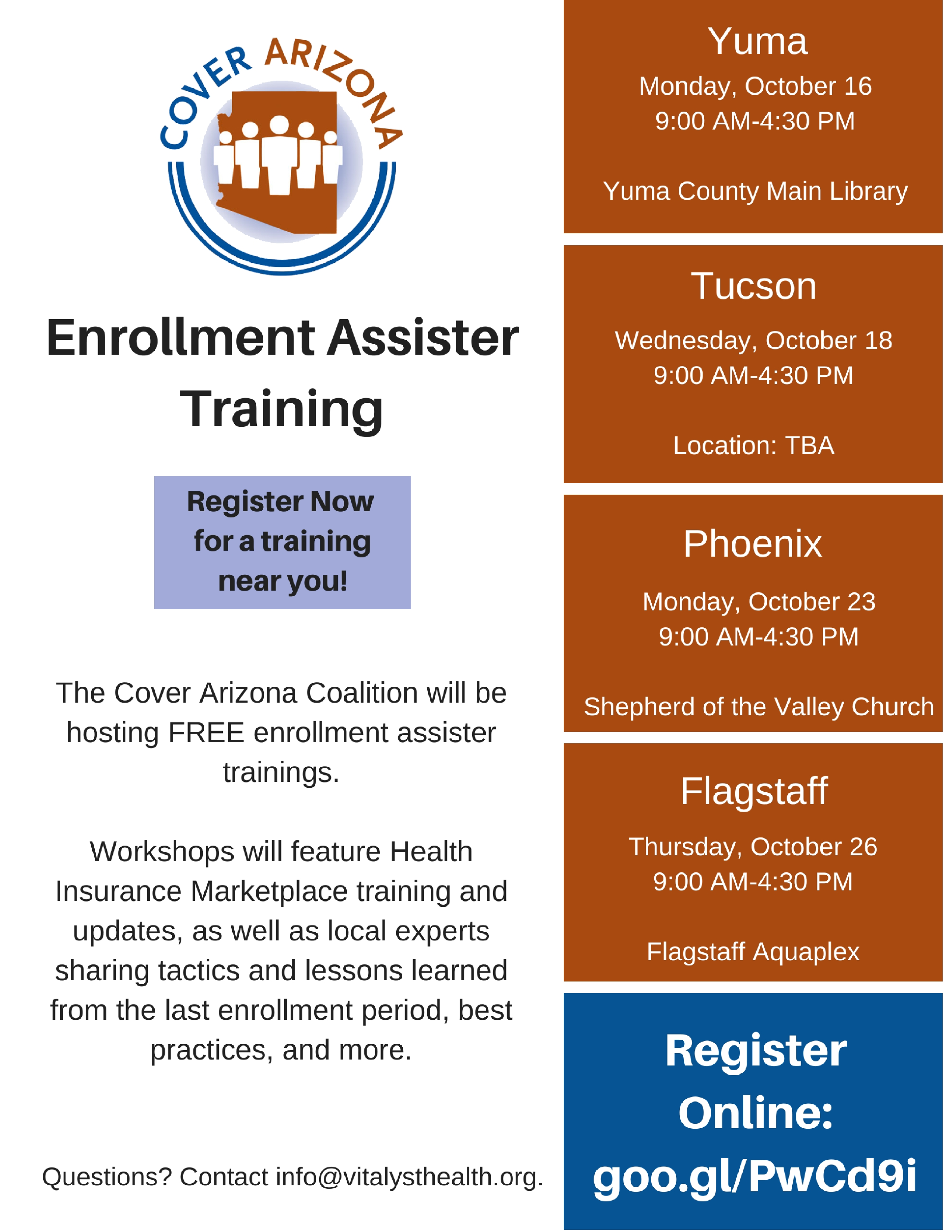 Cover ArizonaEnrollment Assister Training (2)